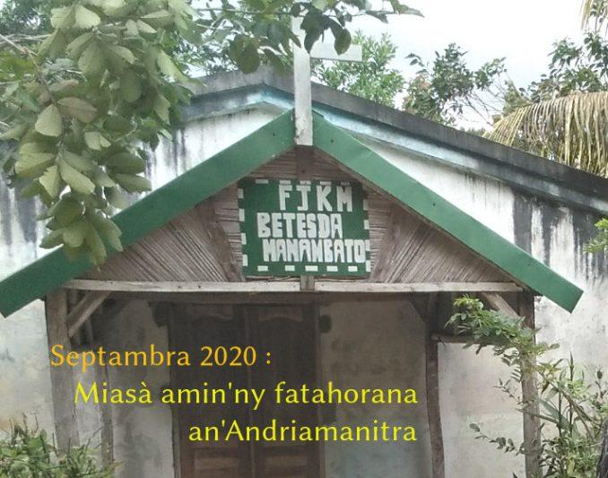 Perikopa FJKM septambra 2020 : Miasà amin'ny fatahorana an'Andriamanitra.